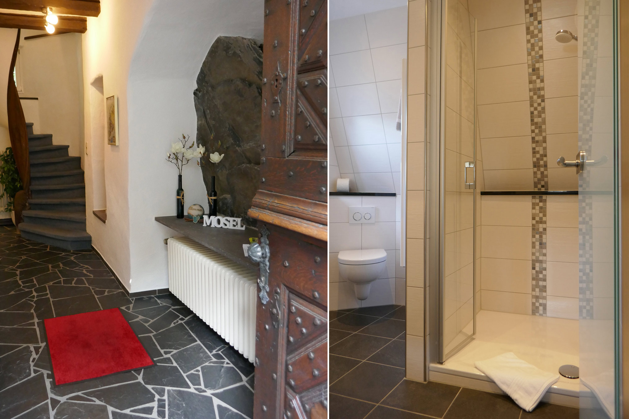Eingang und Duschbad